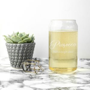 My Favourite Drink is Prosecco - Beer Can Glass