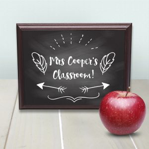 Gift Ideas Teachers - Solid Wood and Metal Teacher Signs
