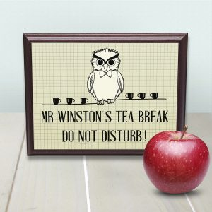 Teachers Wooden Signs - Solid Wood and Metal Funky Signs