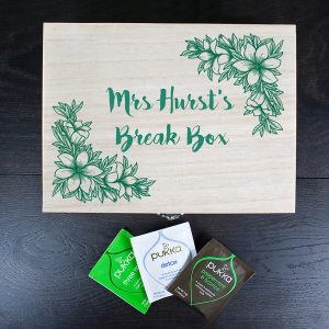 Best Teacher Gifts - Personalised & Filled Wooden Tea Box