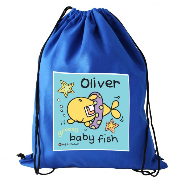 11ebcc5c2cf5 Personalised Bang On The Door Baby Fish Boys Swim   Kit Bag