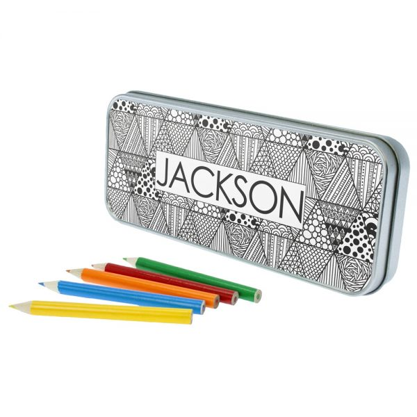 Abstract Sketch Personalised Pencil Case