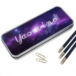 Cosmic Personalized Pencil Case