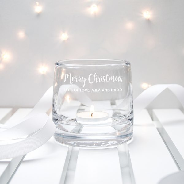 Personalised Christmas Candle Holder from LSA International