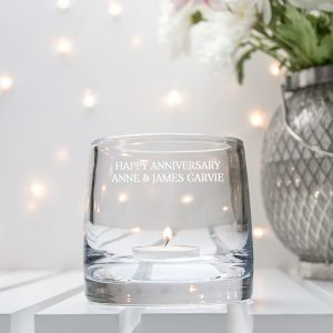 LSA Candle Holder - Personalised Glass Storm Lantern