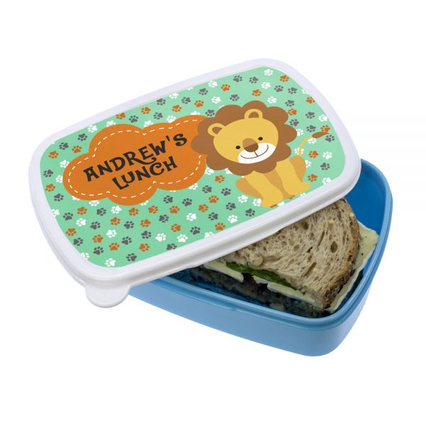 Toddler Lunch Box – Personalised Cute Lion Lunch Box