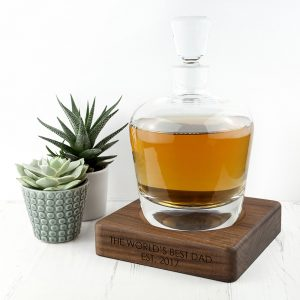 Personalised Whisky Decanter - LSA International Glass & Walnut