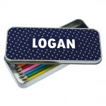 Pencil Cases for Boys – Astronaut Personalised Tin & Pencils