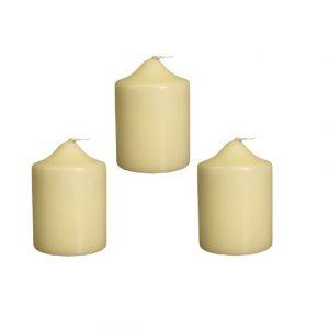Church Pillar Candles - Thick Ivory Church Candles 100 x 70 mm