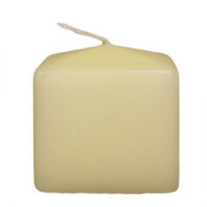 Ivory Church Candle - 60 by 60 by 60 mm