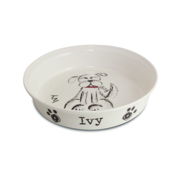 Dog Birthday Gifts – Bone Chine Personalised Scribble Bowl