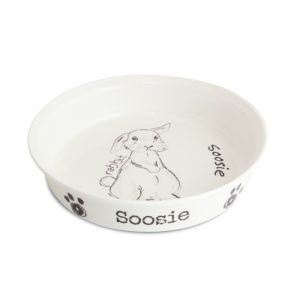 Personalised Rabbit Bowls - Bone China Adorable Sketch & Personal Touch