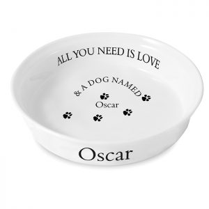 Personalized Dog Gifts - Bone China All You Need is Your Dog Bowl