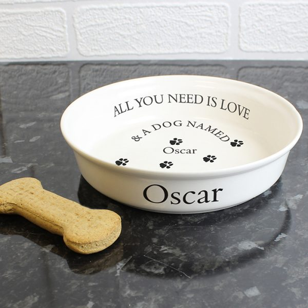 personalized dog gifts bone china all you need is your dog bowl