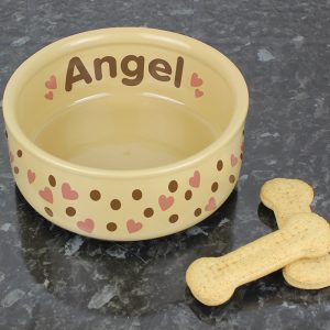 Large Ceramic Dog Bowls Personalised for your Friend