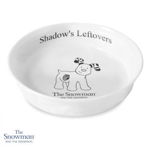 Personalised Gifts for Dog Lovers - Bone China Snowdog Dog Bowl