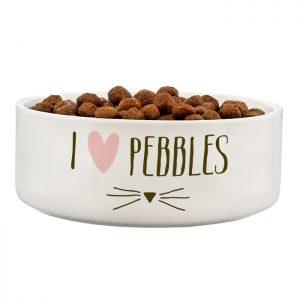 Ceramic Cat Bowls - Gorgeous Personalised White Ceramic Dish
