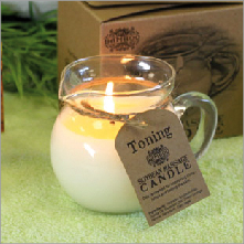 Toning Soybean Massage Candle