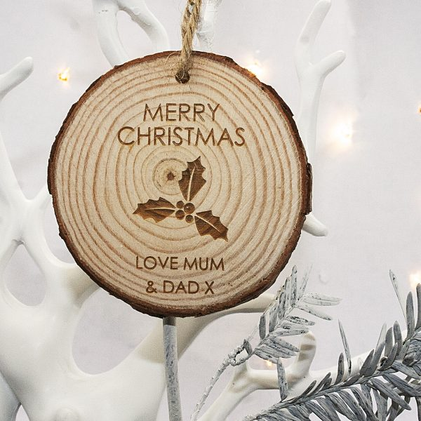 Christmas Tree Decoration – Personalised Holly Hanging Decoration