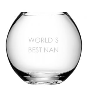 LSA International Globe Vase - Sans Serif