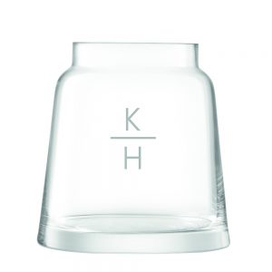 Personalised Chimney Vases - Vertical Monogram