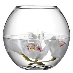 LSA Monogrammed Globe Vase - Horizontal Monogram