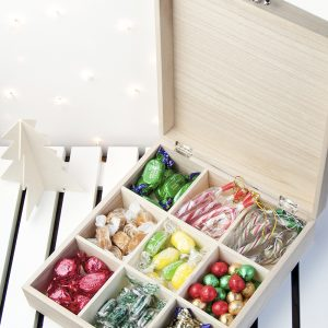 Christmas Sweet Boxes - Personalised Wooden Festive Sweetie Boxes