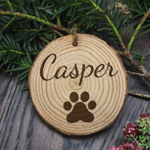 Christmas Tree Decoration for Cats - Personalised Wooden Ornament