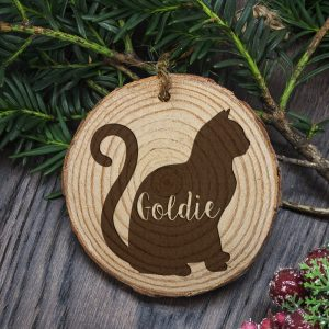 Christmas Tree Decorations for Cats - Personalised