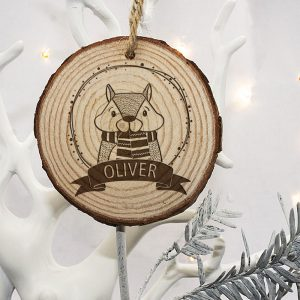 Personalised Christmas Tree Decoration for Kids - Engraved Wood