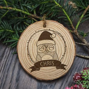 Sleep Owl Christmas Tree Decoration at Country Charm