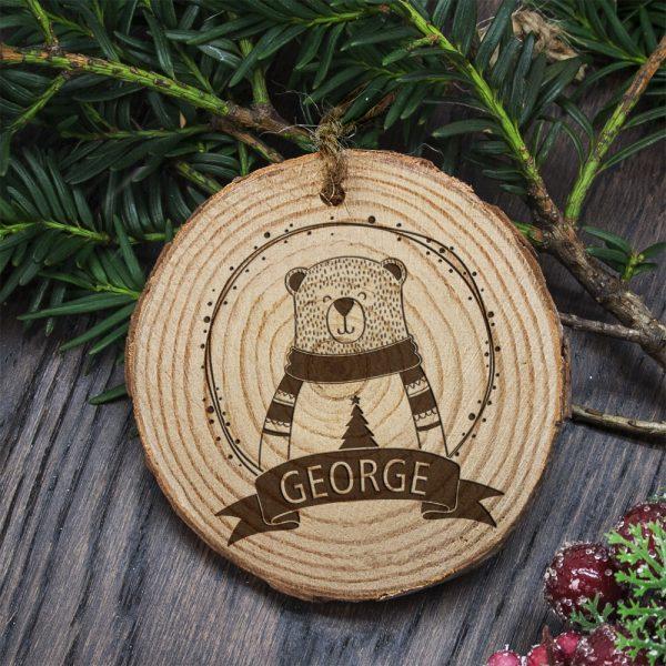 Polar Bear Christmas Tree Decorations – Personalised