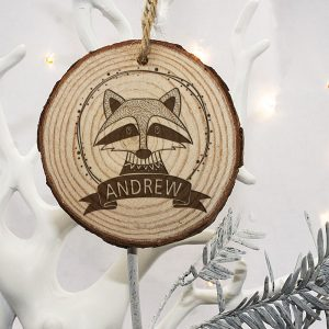 Personalised Christmas Tree Decoration for Children - Engraved Wood