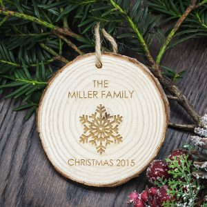 Wooden Family Christmas Tree Decoration
