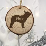 Christmas Tree Decorations for Pets – Bulldog Silhouette