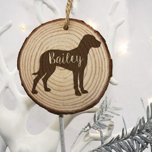 Christmas Tree Decorations for Dogs - Dalmation & Labrador Silhouette