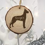 Christmas Tree Decorations for Pets – Great Dane Silhouette
