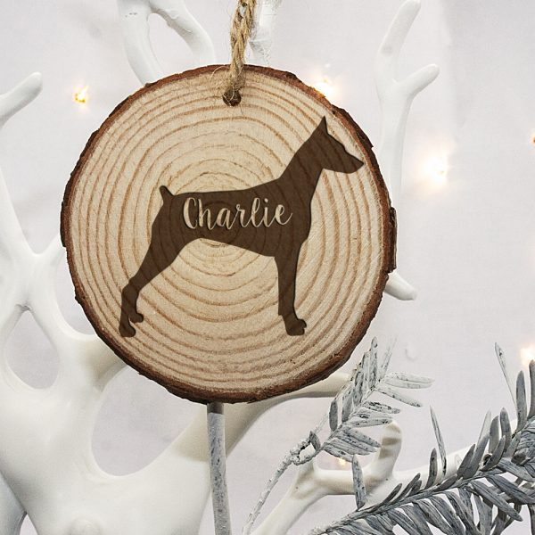 Christmas Tree Decorations for Pets – Doberman Silhouette