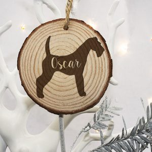 Christmas Tree Decorations for Pets - Irish Terrier Silhouette