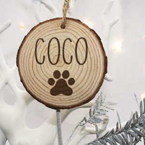Christmas Tree Decoration for Cats - Personalised in Bold Font