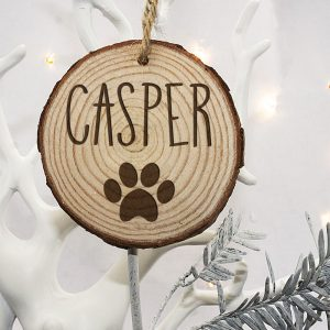 Personalised Paw Print Christmas Tree Decorations for Your Dog