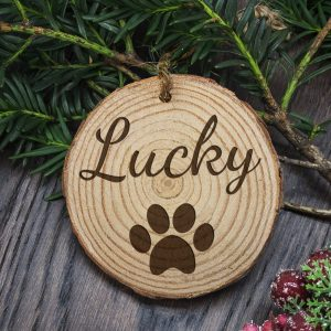Personalised Paw Print Christmas Decorations for your Dogs