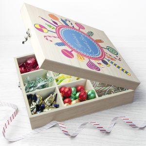 Christmas Sweet Boxes - Personalised Wooden Festive Sweetie Box