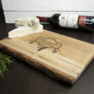 Personalised Cheese Platter - Solid Ash Rare Vintage Engraved Board