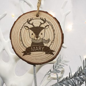 Reindeer Christmas Tree Decoration - Personalised for your Child