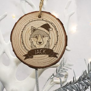 Personalised Christmas Tree Decoration for Children - Woodland Animals
