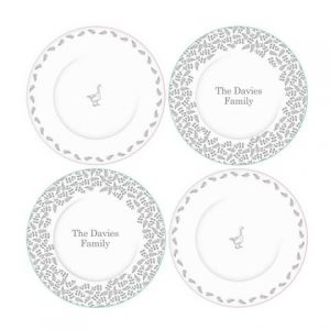 Mary Berry Cake Plates - Personalised Set of Four Cake Plates