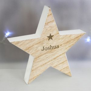 Wooden Star Personalised Decoration - Shabby Chic Décor