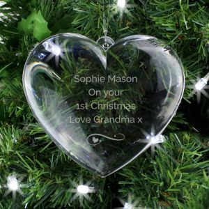 Heart Christmas Decoration - Personalised Christmas Ornament