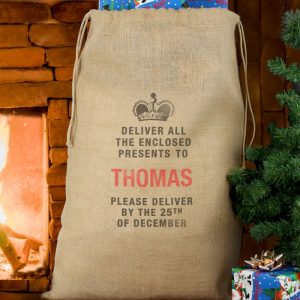Hessian Toy Sack - Personalised Special Delivery Christmas Sack